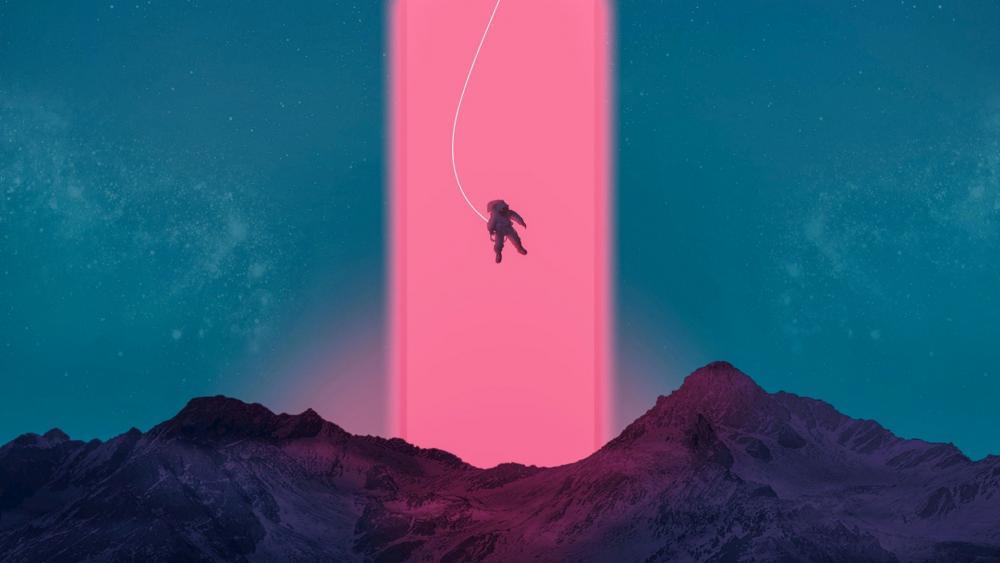 Flying Astronaut  wallpaper