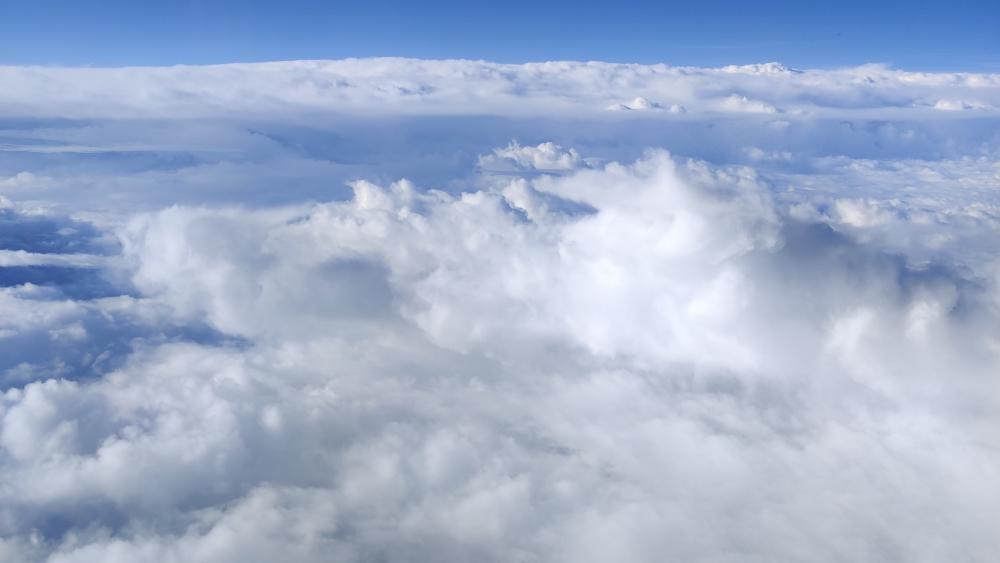 Plane of sky wallpaper