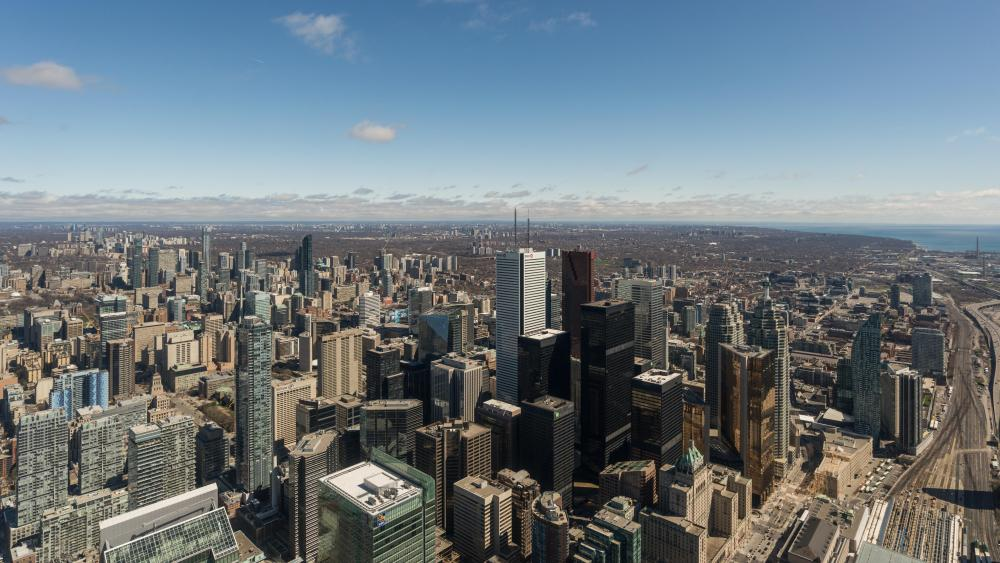 Toronto Downtown Area Cityscape wallpaper