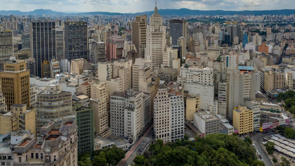 View of the Altino Arantes Building, São Paulo, Brazil wallpaper
