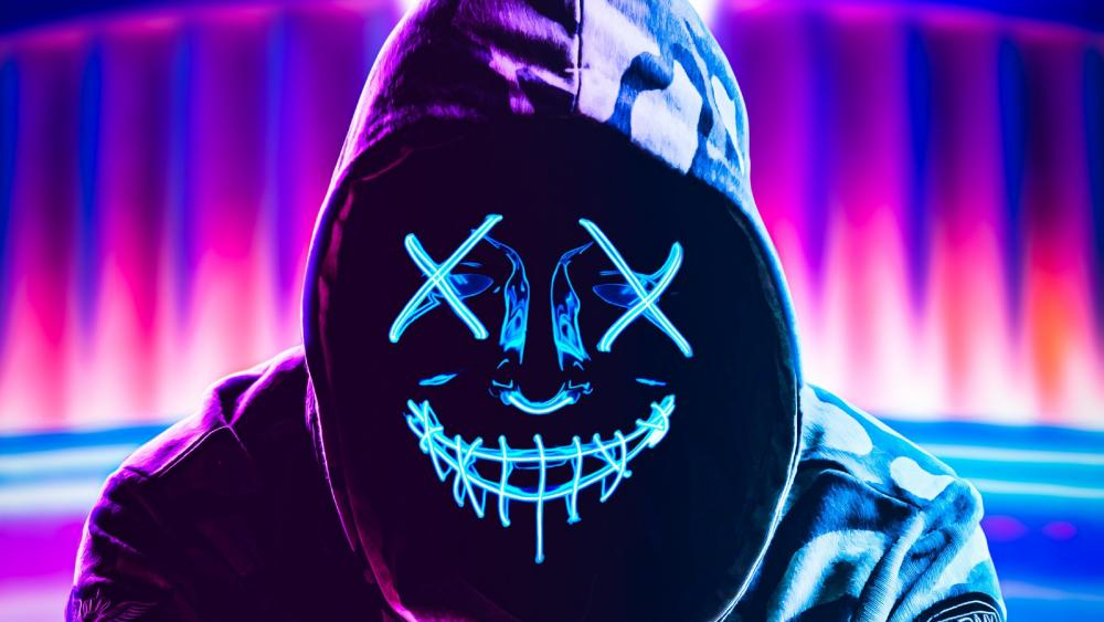 Neon Mask wallpaper