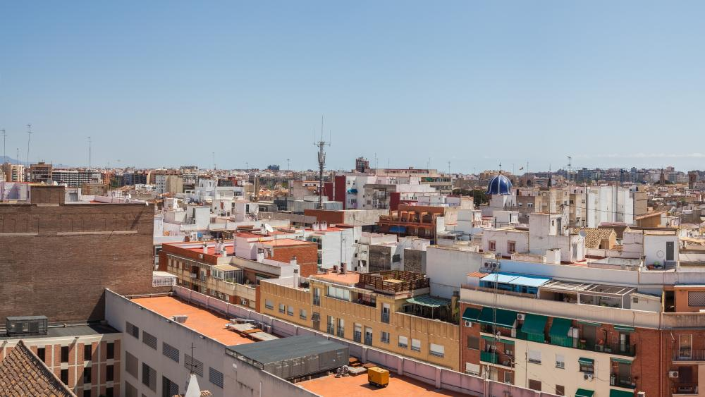 Panoramic view of Valencia wallpaper