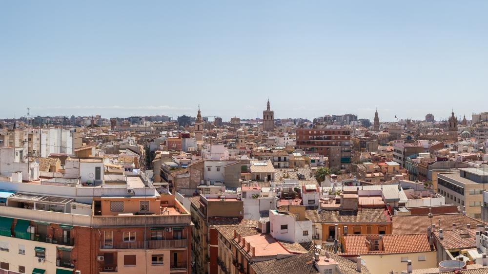 Panoramic View of Valencia from the Quart Towers wallpaper