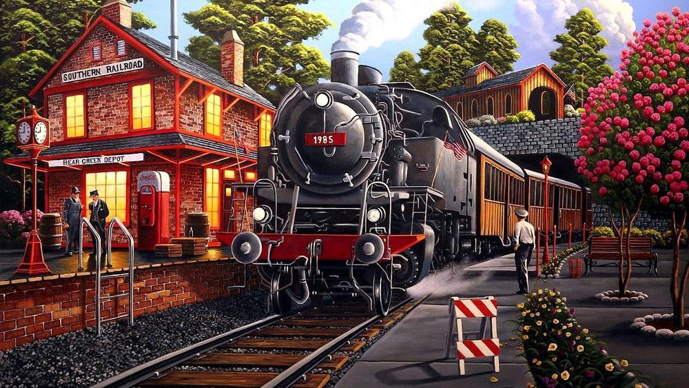 Bear Creek Depot Artwork wallpaper