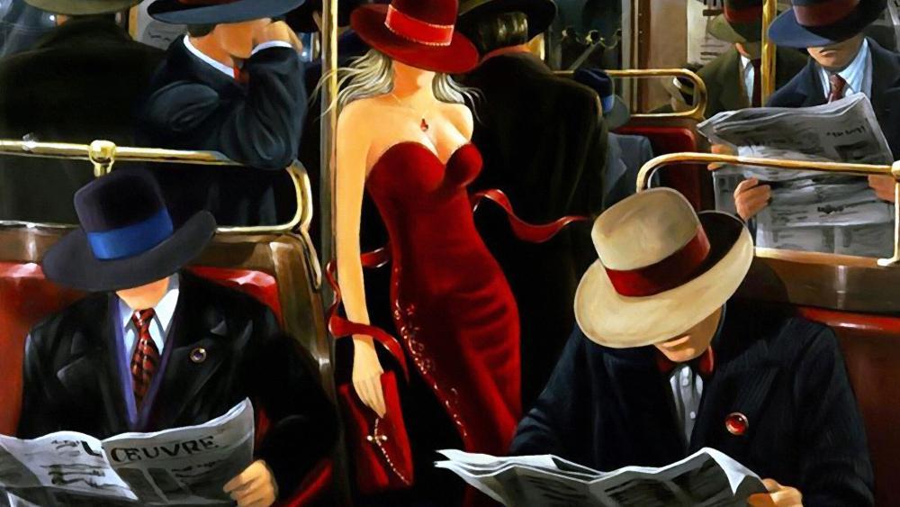 Into The Train Artwork wallpaper