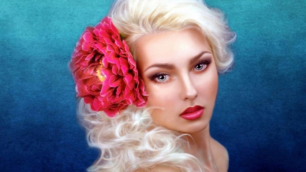 Fantasy Blonde Beauty wallpaper