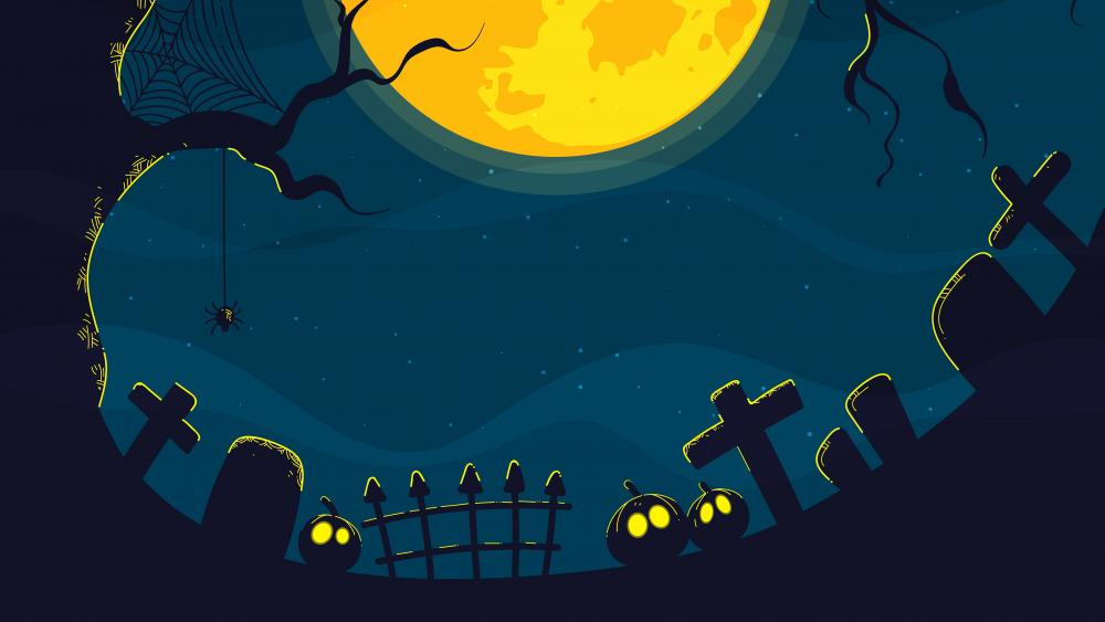 Halloween cemetery wallpaper