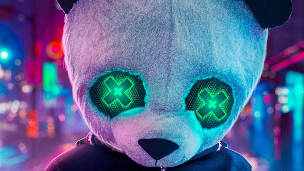 Panda with Green X's wallpaper