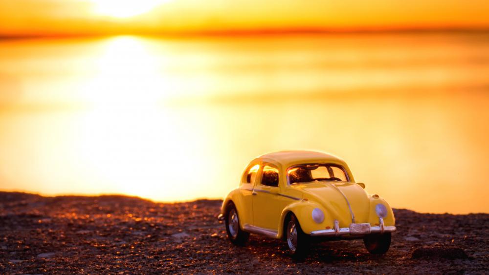 Car Morning Landscape Design Sunlight wallpaper