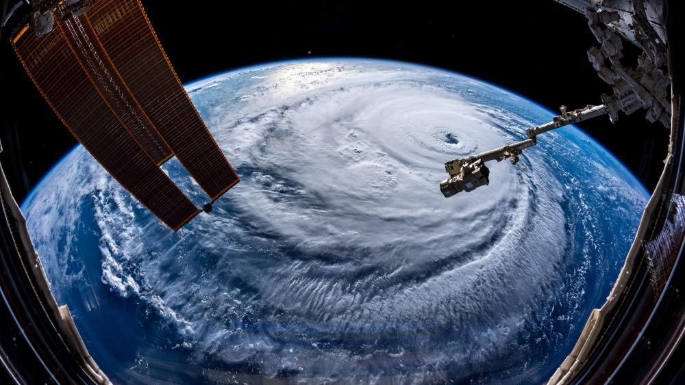 Hurricane Florence from The Space Station wallpaper