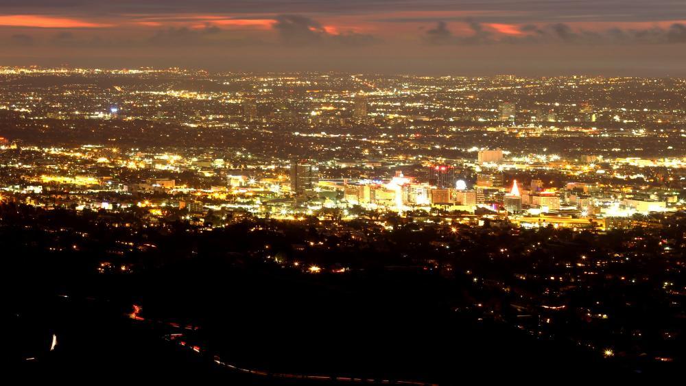 LA Cityscape at Night wallpaper