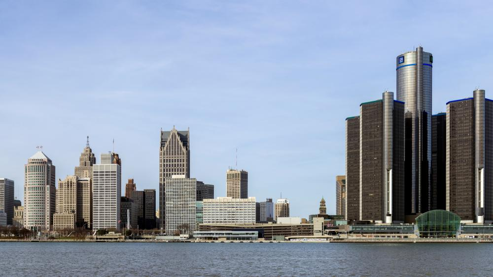 Skyline of Detroit, Michigan wallpaper