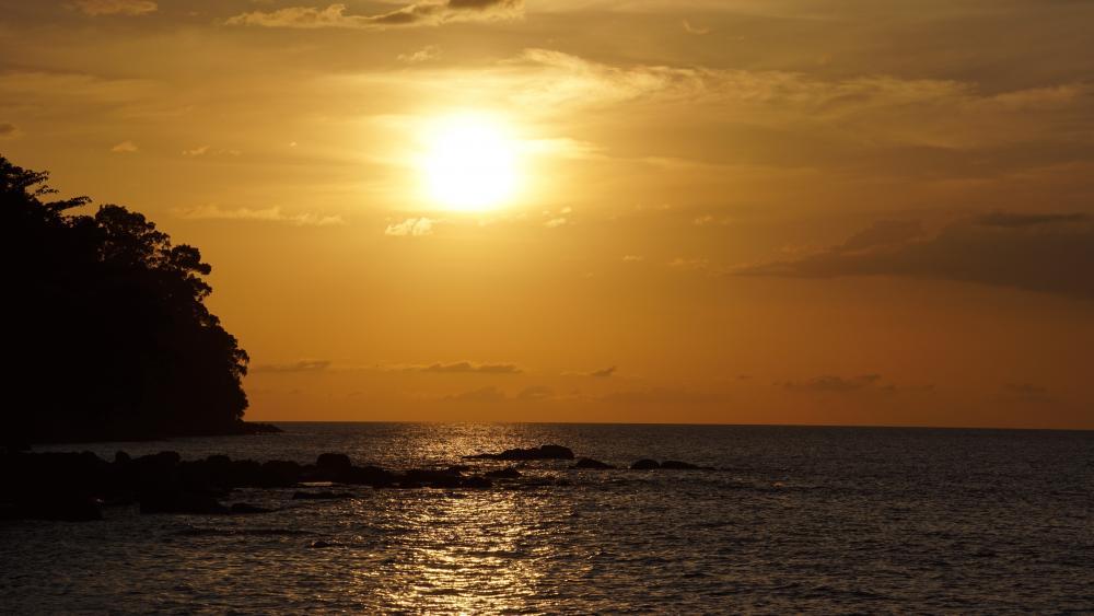 Sonnenuntergang am Meer wallpaper