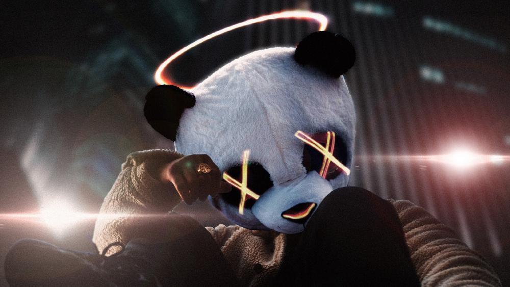 Panda In Style wallpaper