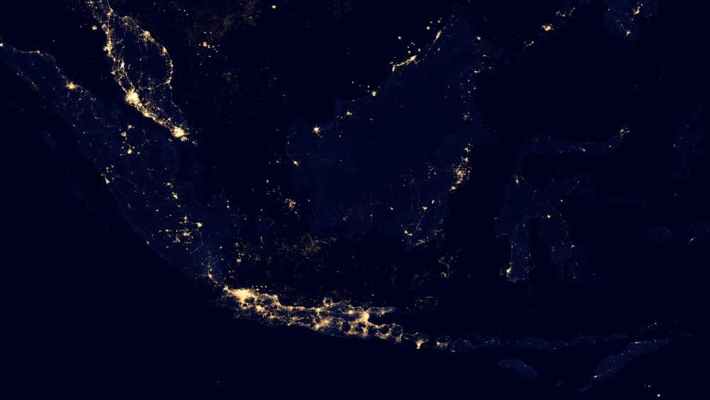 Night Lights of Indonesia v2012 wallpaper