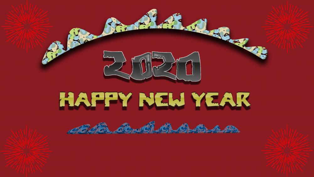 happy new year2020 wallpaper