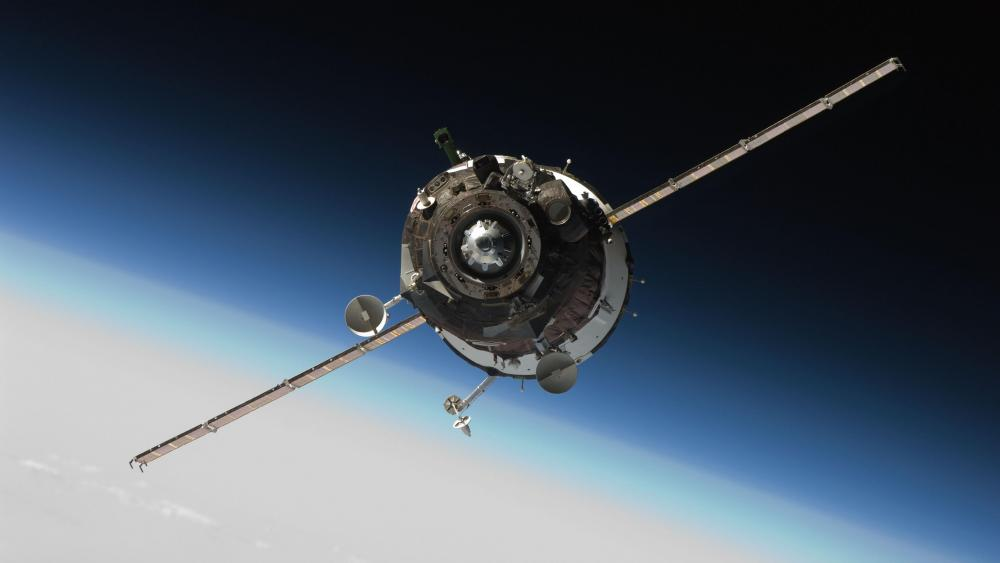 Soyuz TMA-16 Approaching ISS wallpaper