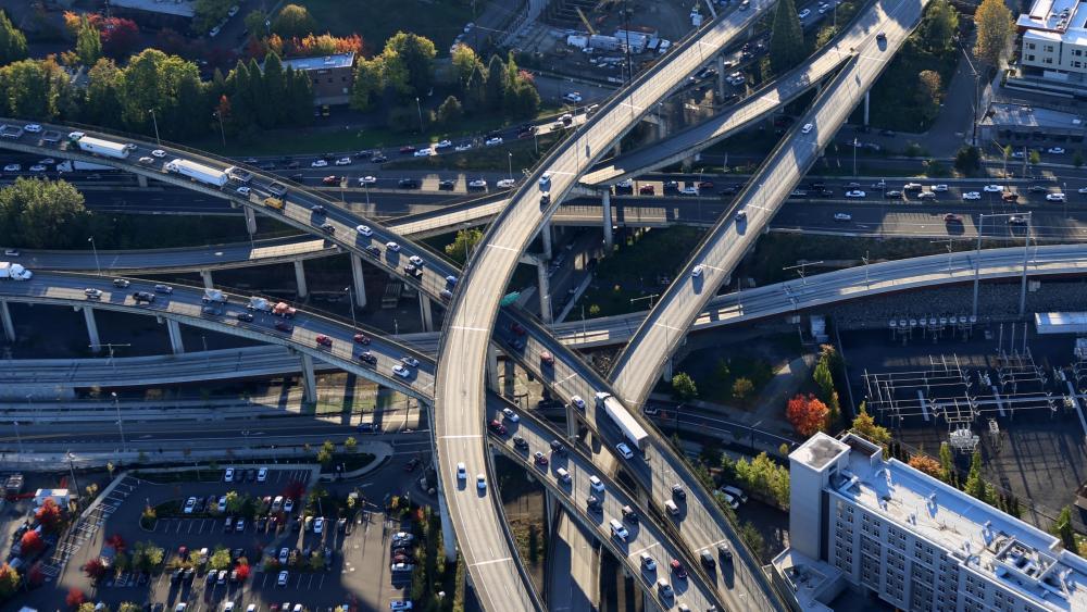 I-5 & I-405 in Portland wallpaper