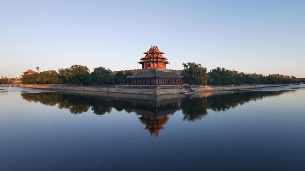 Forbidden City Corner Building wallpaper