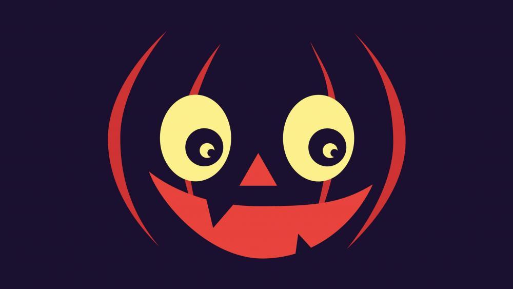 halloween pumpkin face wallpaper