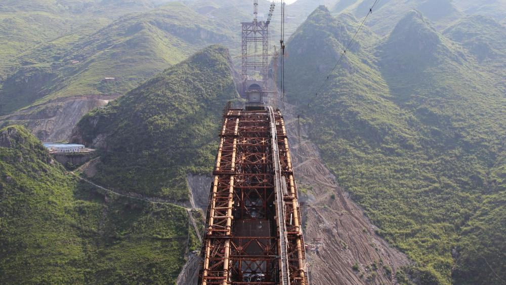 Qinglong Railway Bridge wallpaper