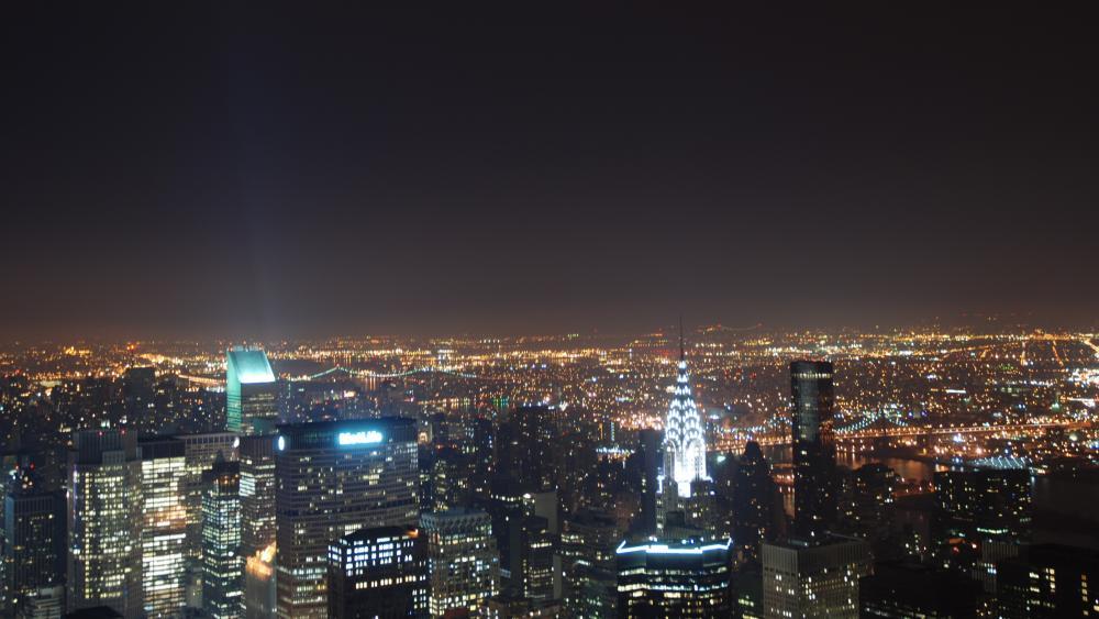 New York City Skyglow wallpaper