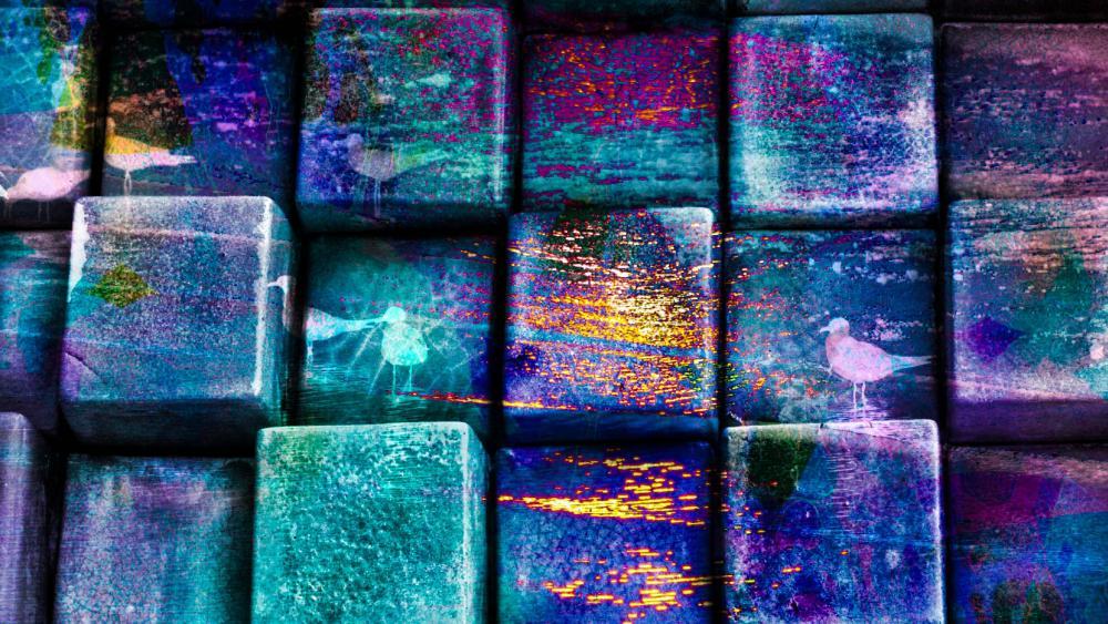 space cubes wallpaper