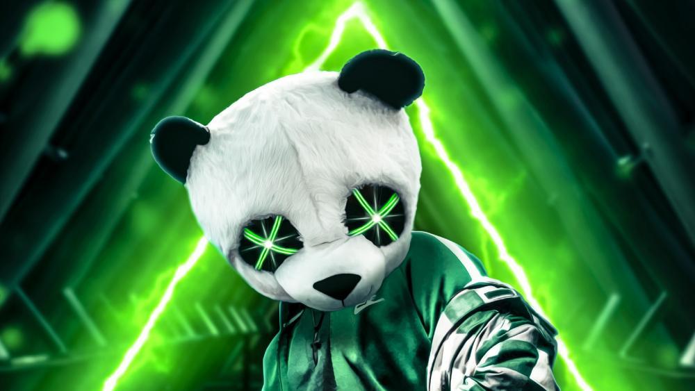 Neon Green Panda wallpaper