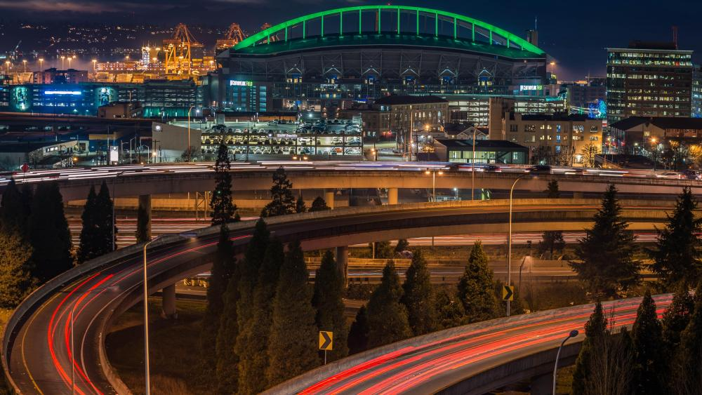 Interchange of I-5 & I-90 in Seattle wallpaper