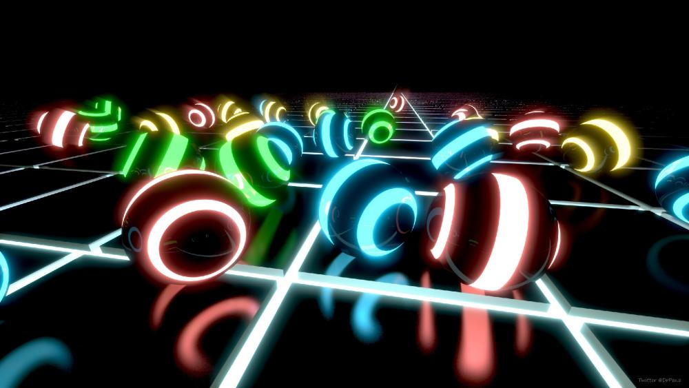 abstract colorful balls wallpaper