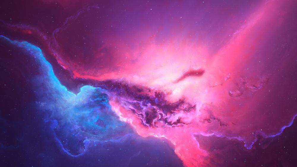 pink 3d nebula wallpaper