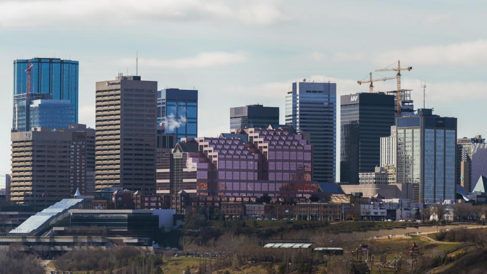 Edmonton's Skyline in 2016 wallpaper