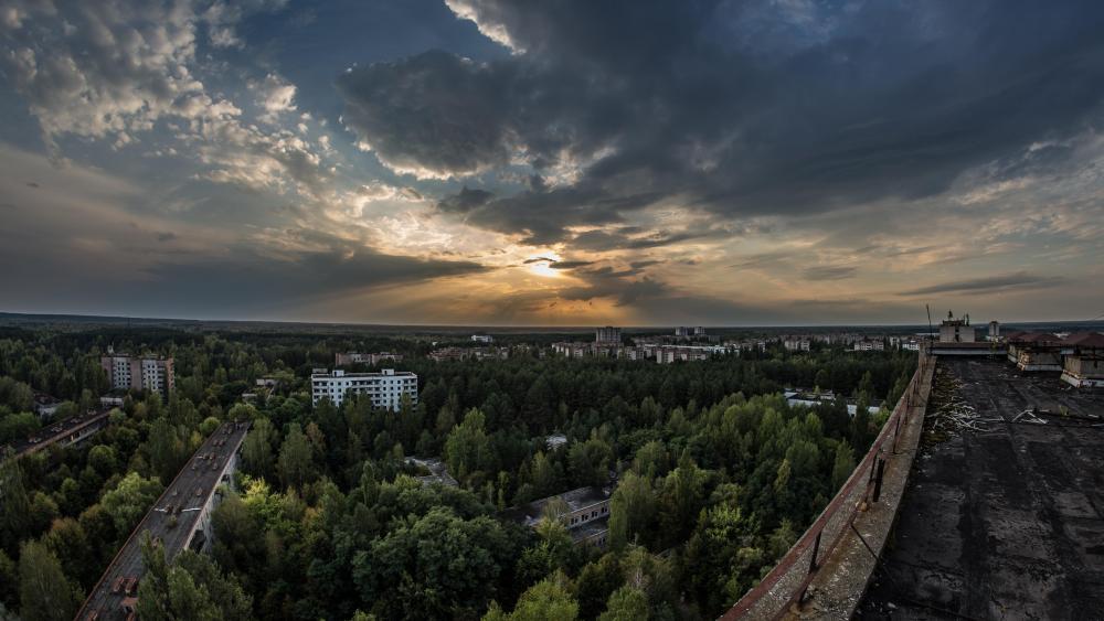 Pripyat panorama wallpaper
