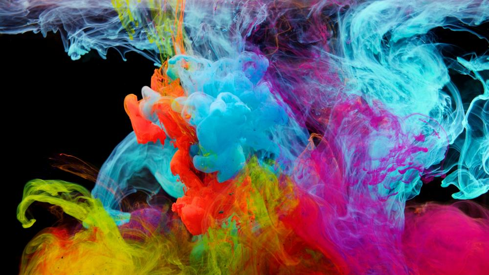 Multicolor smoke wallpaper