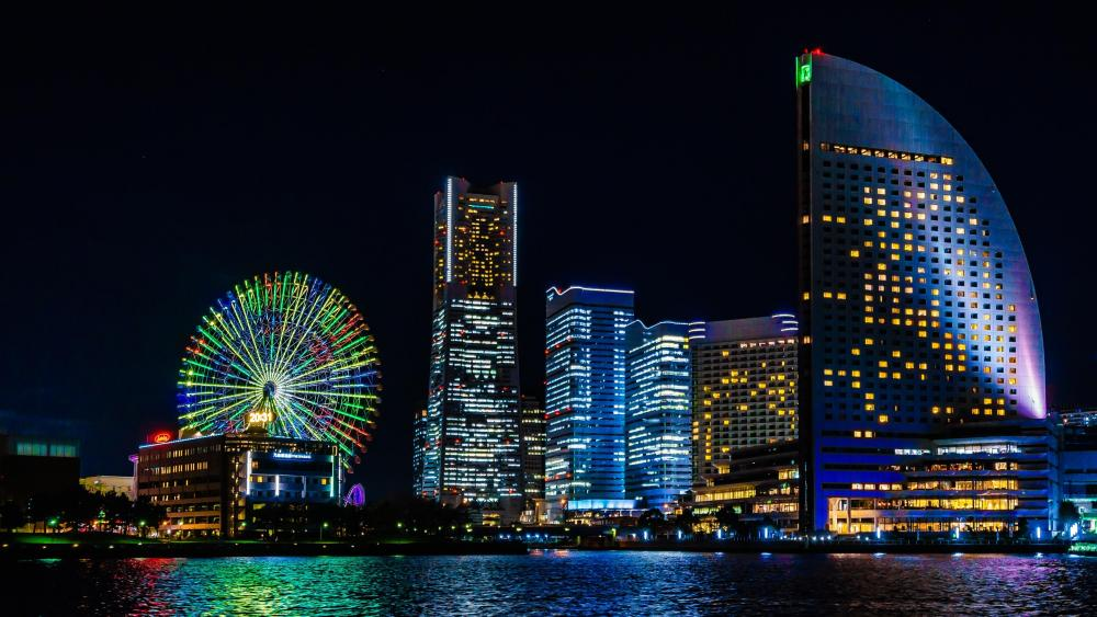 Cosmo Clock 21 & Yokohama Skyscrapers wallpaper