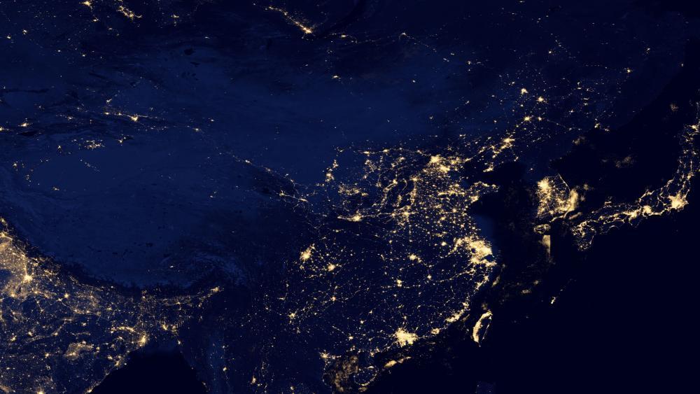 Night Lights of China v2012 wallpaper