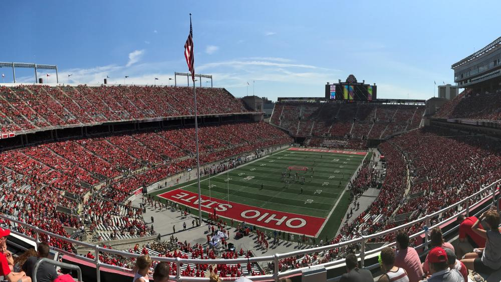 Crowd at an Ohio State Buckeyes Football Game wallpaper