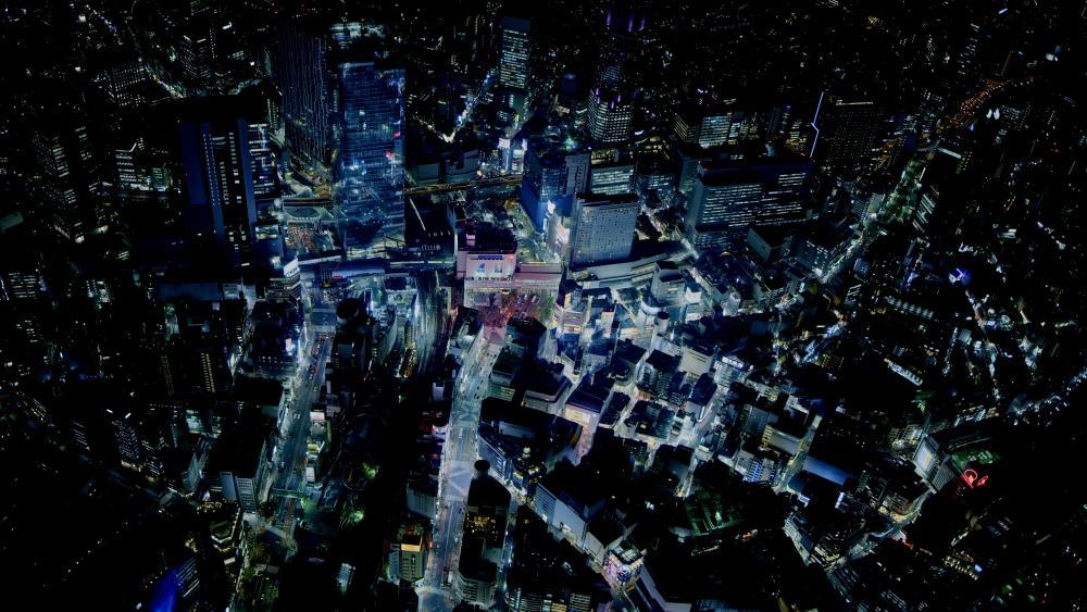 City night life in Japan. wallpaper