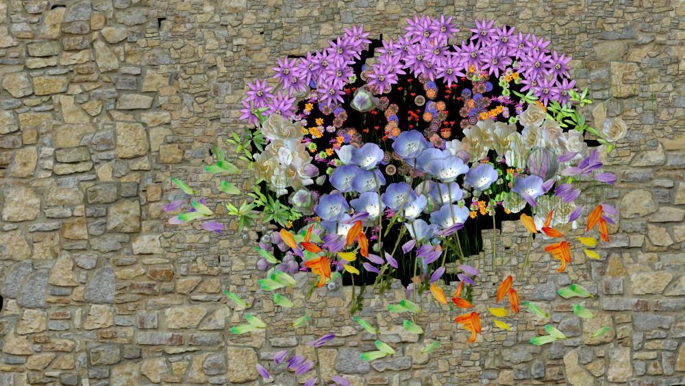 Flower bouquet wallpaper
