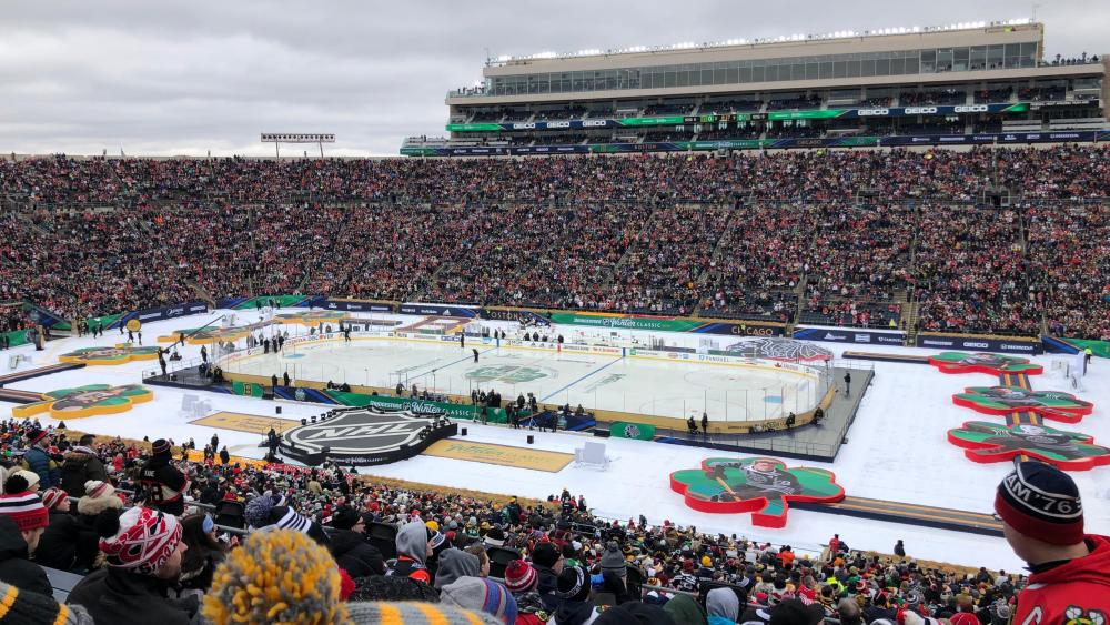 The 2019 Winter Classic at Notre Dame Stadium wallpaper
