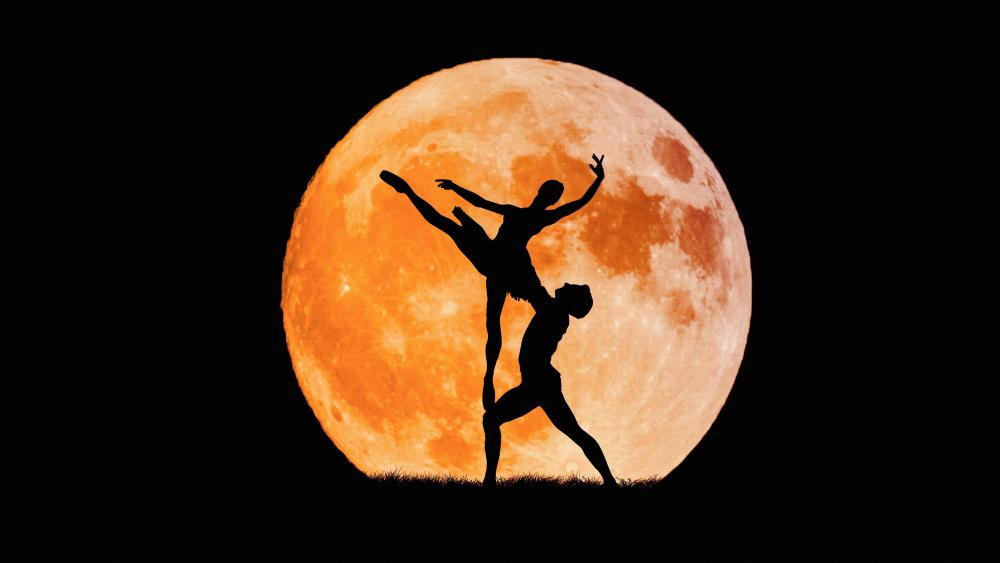 Celestial Dance Under The Moon wallpaper