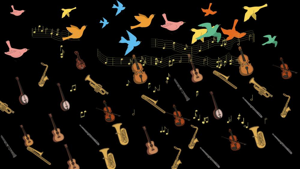 Flying concert wallpaper