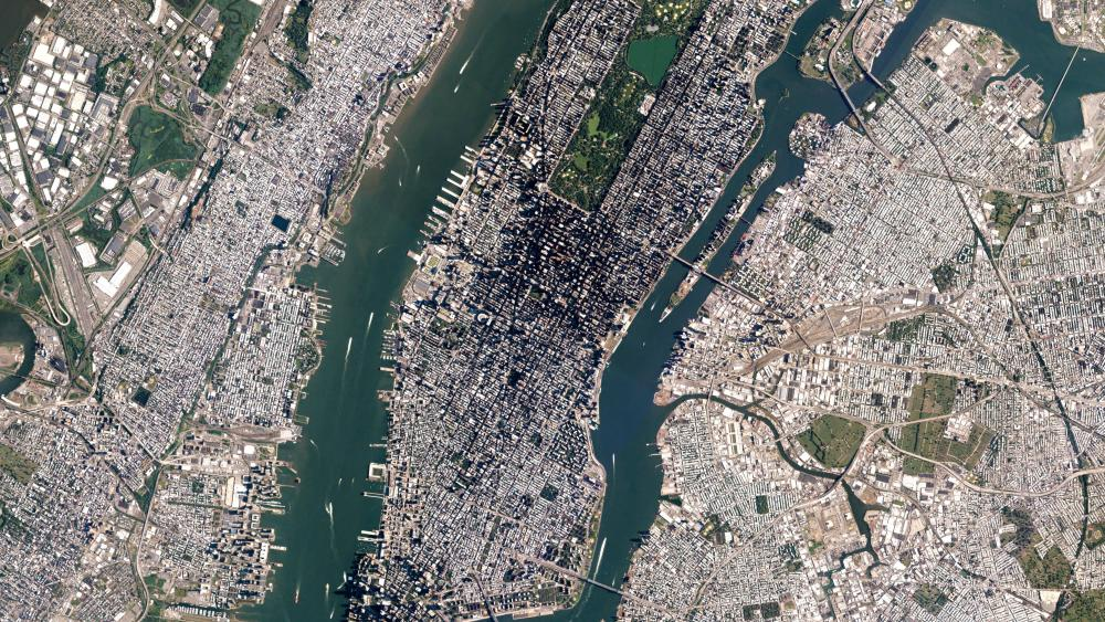 Satellite View of NYC wallpaper