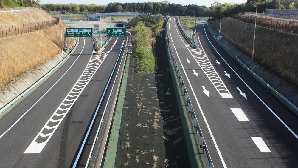 Shin Yokkaichi Junction Seen from the C3 Tokai Ring Expressway wallpaper