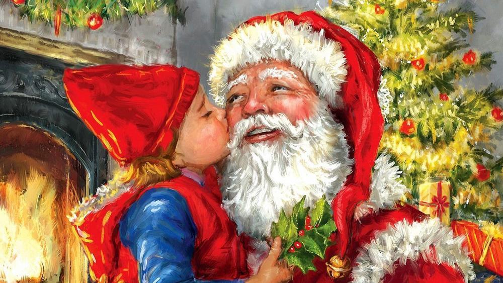 Kisses For Santa wallpaper