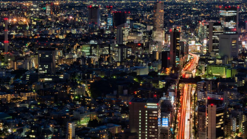 View of Tokyo from Roppongi Hills Mori Tower wallpaper