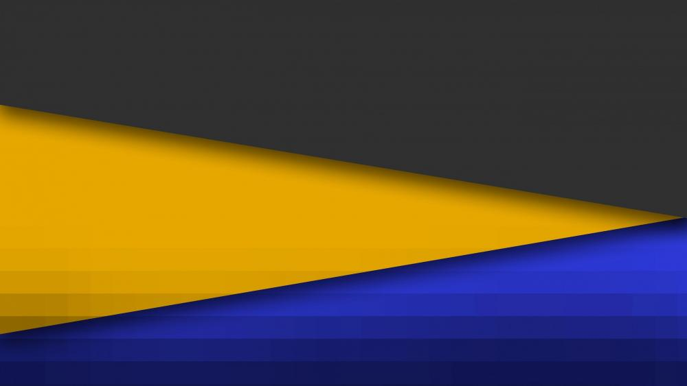 Black and yellow and blue material design wallpaper