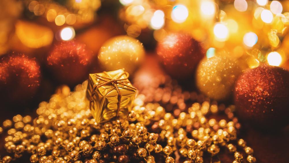 Gold Christmas wallpaper