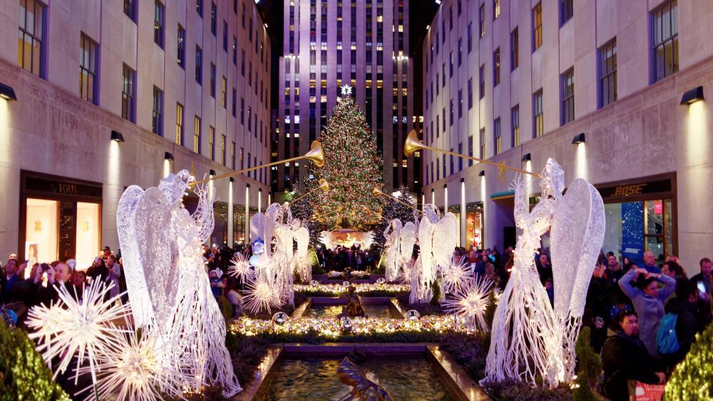 Rockefeller Center Christmas Tree in 2016 wallpaper