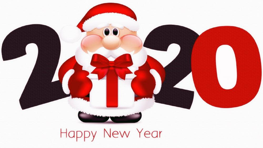 Happy New Year With Santa Claus wallpaper